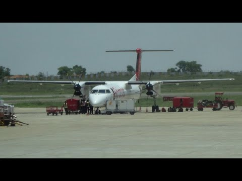 SpiceJet Bombardier Q400 Landing at Colombo Bandaranaike International Airport [SG 3314]