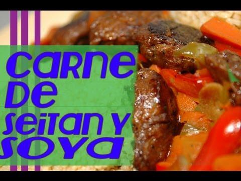 carne vegetal de seitan y soya !
