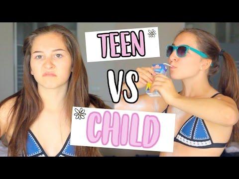 TEEN VS CHILD ON VACATION