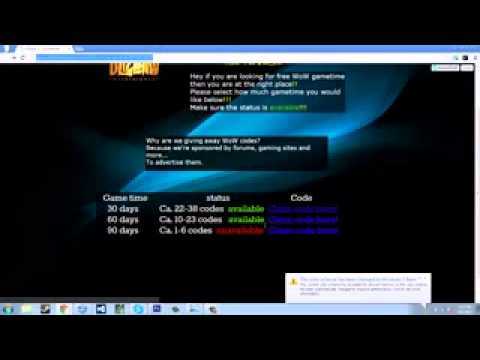 World of Warcraft free game time code generator Tutorial Download updated 2014