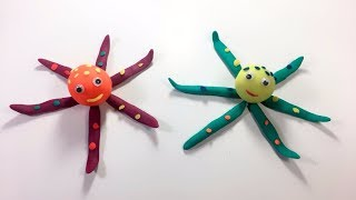 Row Row Row Your Boat | How To Make Cute Octopus with PlayDoh | Learn Colors Play Doh Compilation