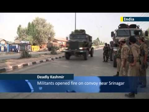Five Indian soldiers killed in militant attack on army convoy in troubled Kashmir region