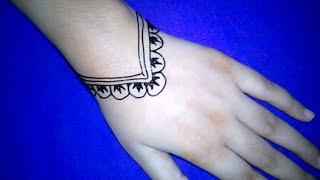 Easiest henna mehndi design. Latest & stylish mehndi design. Simple Mehndi.