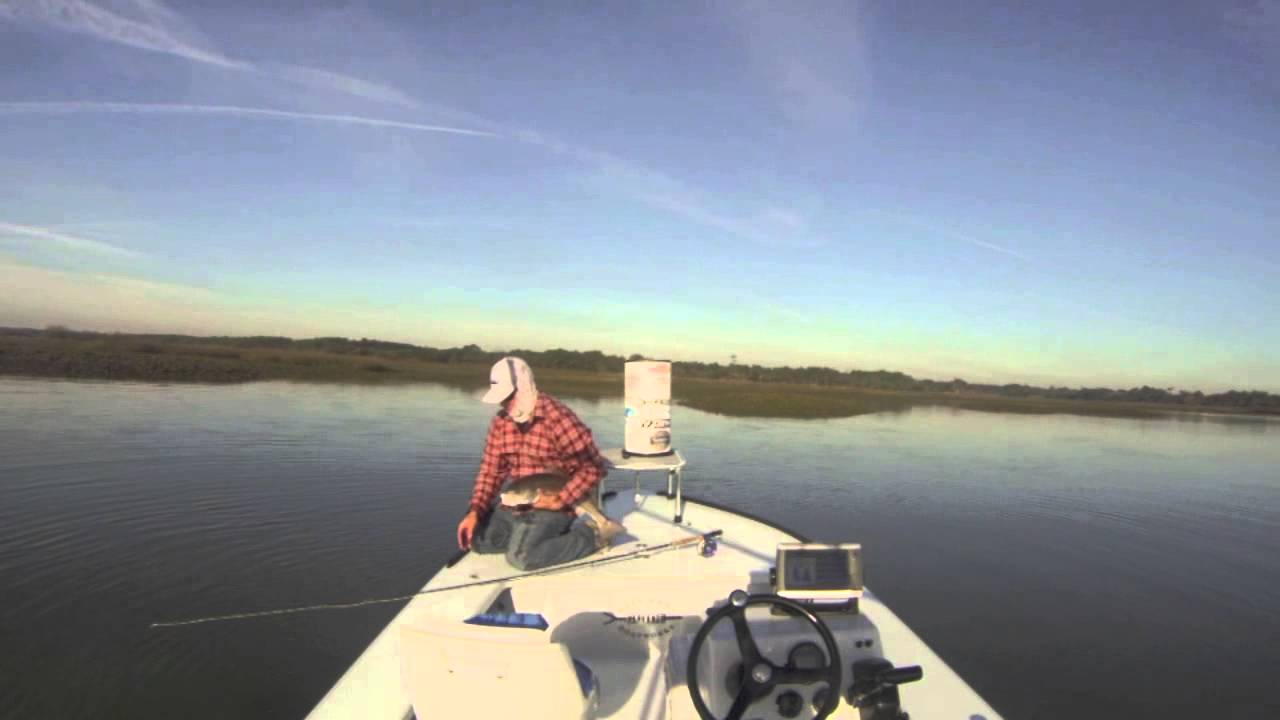 Winter time sight fishing for redfish in charleston sc for Fly fishing charleston sc