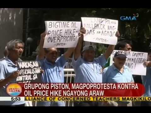 UB: Piston, magpoprotesta vs. oil price hike ngayong Lunes
