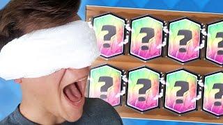 BLINDFOLD LEGENDARY DECK CHALLENGE! (Clash Royale)