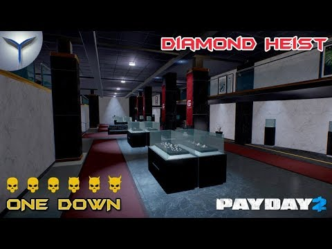 Payday 2. Как одному пройти карту ограбление бриллиантов/Diamond Heist по стелсу. ONE DOWN.