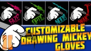 Customizable Drawing Mickey Mouse Gloves For Clans & Players - BO2 Emblem Tutorial