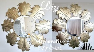 Diy Elegant Style Mirror Using Dollar Tree Items!