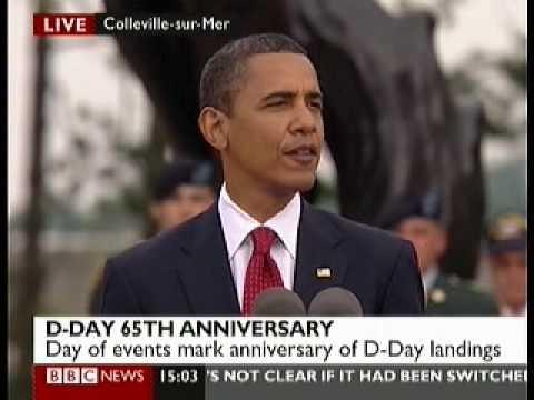 D Day 65th Anniversary 9 Barack Obama Speech 3