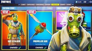 """NEW """"SKY STALKER"""" SKIN + """"PROPELLER AXE"""" in Fortnite! - NEW Fortnite UPDATE (Fortnite Battle Royale)"""