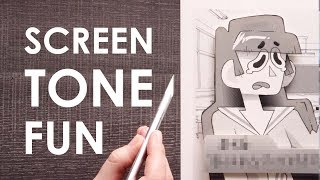 SCREEN TONE -  Creating A Fake Dating Sim Screen