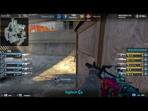 RERUN: LDLC vs. Heroic [Overpass] Map 1 - ESL Pro League Season 5 - EU Matchday 4