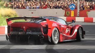 Ferrari FXX K EVO screaming on the streets of Milan during the 2018 F1 Live Festival!