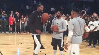 Kevin Durant, Russell Westbrook, LAUGHING TOGETHER With Kyrie Irving | 2018 NBA All-Star Game