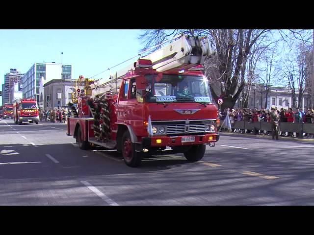 Desfile Regional día del Bombero Voluntario (carros)