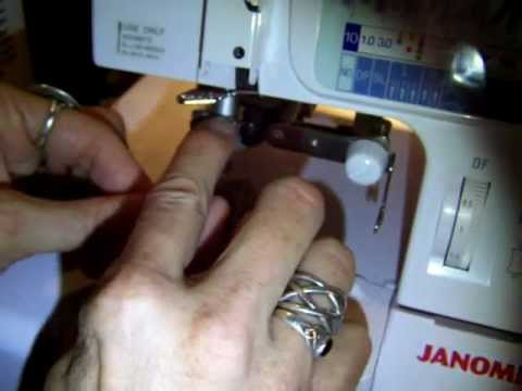Janome 1200D serger cover stitch combo