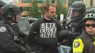 Protester detained in Portland protests