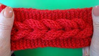 Knitting pattern Узор Коса вязание спицами 7
