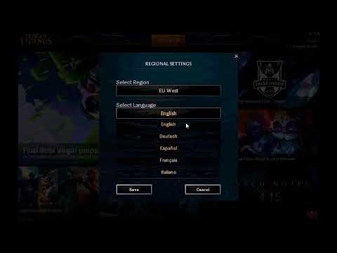 How To Change Region Patch 4.15 League Of Legends