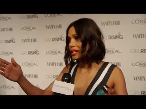 Vanity Fair & Host Freida Pinto Celebrate Girl Rising Oscars Weekend