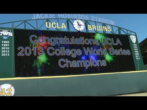 Hundreds of fans, family and supporters came out to Jackie Robinson Stadium to help celebrate the UCLA baseball team's dominant march through the College Wor...