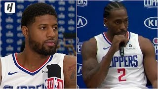 Kawhi Leonard on Why He Signed with the Clippers! Paul George Excited to Play with Kawhi!