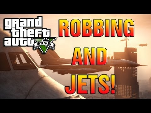 GTA 5 - How To Rob A Store + Military Base and Jets Gameplay! (GTA V Gameplay)