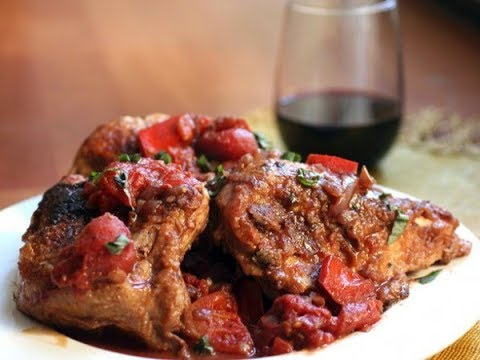 Куриное филе в винном соусе на сковороде! ( + фламбэ )