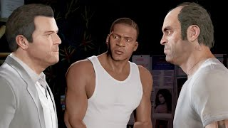 GTA V Franklin kills Michael and Trevor