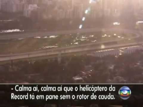Acidente Aéreo / Air Crash - Queda do Helicoptero da TV Record / Fall Helicopter - Live [CC]