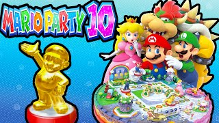 Mario Party 10 Wii U AMIIBO PARTY Gold Mario! 2 Player PART 5 Gameplay Walkthrough Nintendo HD