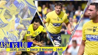 TOP 14 Rugby 2017 18 Jour 10 Aller ASM CA vs LOU
