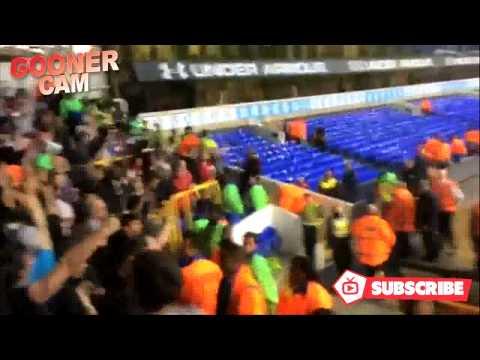 Arsenal Fans Singing 49, 49 Undefeated at White Hart Lane