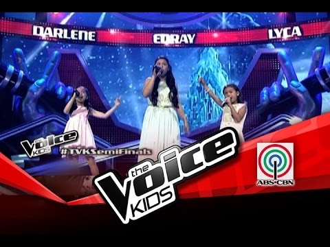 The Voice Kids Philippines Semi Finals let It Go By Darlene, Edray & Lyca video