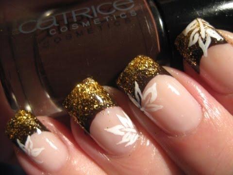 Nail art: Glittery fall
