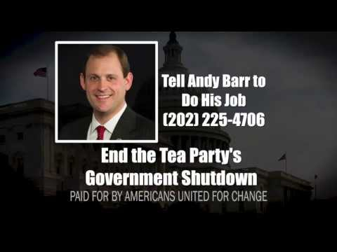 "AUFC Ad: ""Tea Party Shutdown - Andy Barr (R-KY)"