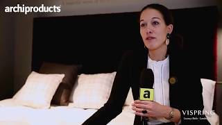 IMM Cologne 2018 | VISPRING - Magali Castillo talks about Signatory, Tiara Superb and the new beds