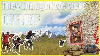 THEY THOUGHT WE WERE OFFLINE | Vanilla Rust
