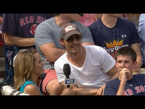 McConaughey on first visit to Fenway