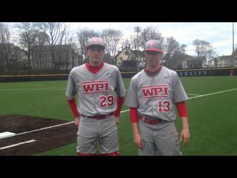 WPI Baseball Post-Game Interview - Kyle Opiekun and Mike Vaitkunas