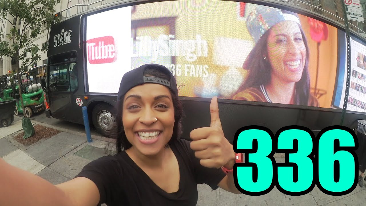 "NEW VLOG! Today we walk around New York City and see my face on all of the billboards and busses and buildings! It was so CRAZY - #TeamSuper is everywhere! Enjoy xo.   Click that [SUBSCRIBE] button! Let's get to 1M Subscribers!   <a href=""https://youtu.be/UtOiBsfs2xM"" class=""linkify"" target=""_blank"">https://youtu.be/UtOiBsfs2xM</a>"