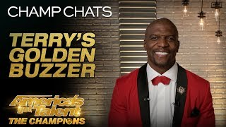 Terry Crews Is THRILLED About Kseniya Simonova's Golden Buzzer - America's Got Talent: The Champions