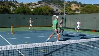 Cal Tennis Players play Spec Tennis