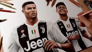 Disegno Ronaldo e Dybala - Juventus