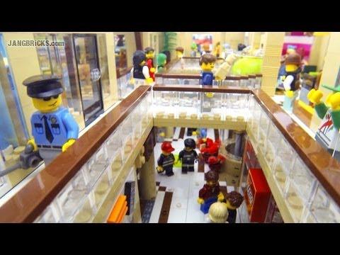 LEGO Shopping MALL! 10.000 pcs. 17 shops. 2 stories. custom MOC!