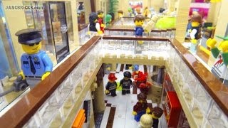 LEGO Shopping MALL! 10,000 pcs, 17 shops, 2 stories, custom MOC!