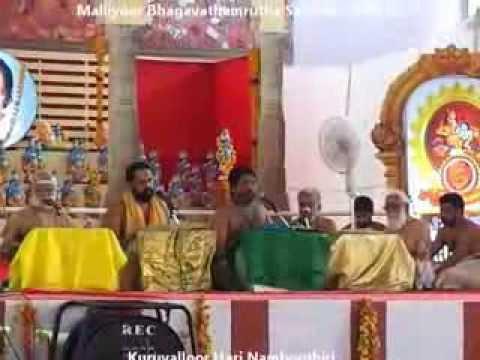 Malliyoor Bhagavathamrutha Sathram 2014 Venmani Krishnan Namboothiri...