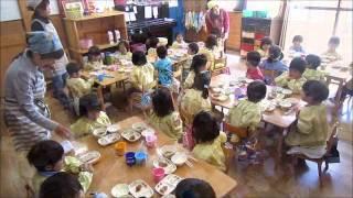 2014/4/24 年少つぼみ給食開始