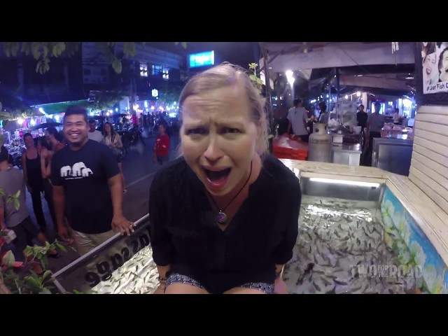 Funny Stuff! Getting Our First Freaky Fish Pedicure in Cambodia